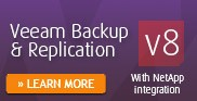 Veeam Backup & Replication v8 with NetApp integration