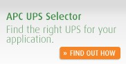 APC UPS Selector - Find the right UPS for your application