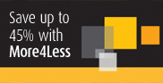 Save up to 45% with More4Less