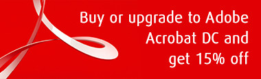 Buy or upgrade to Adobe Acrobat DC and get 15% off