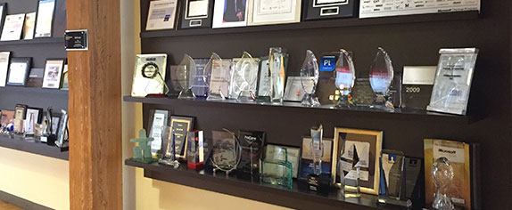 our impressive wall of awards