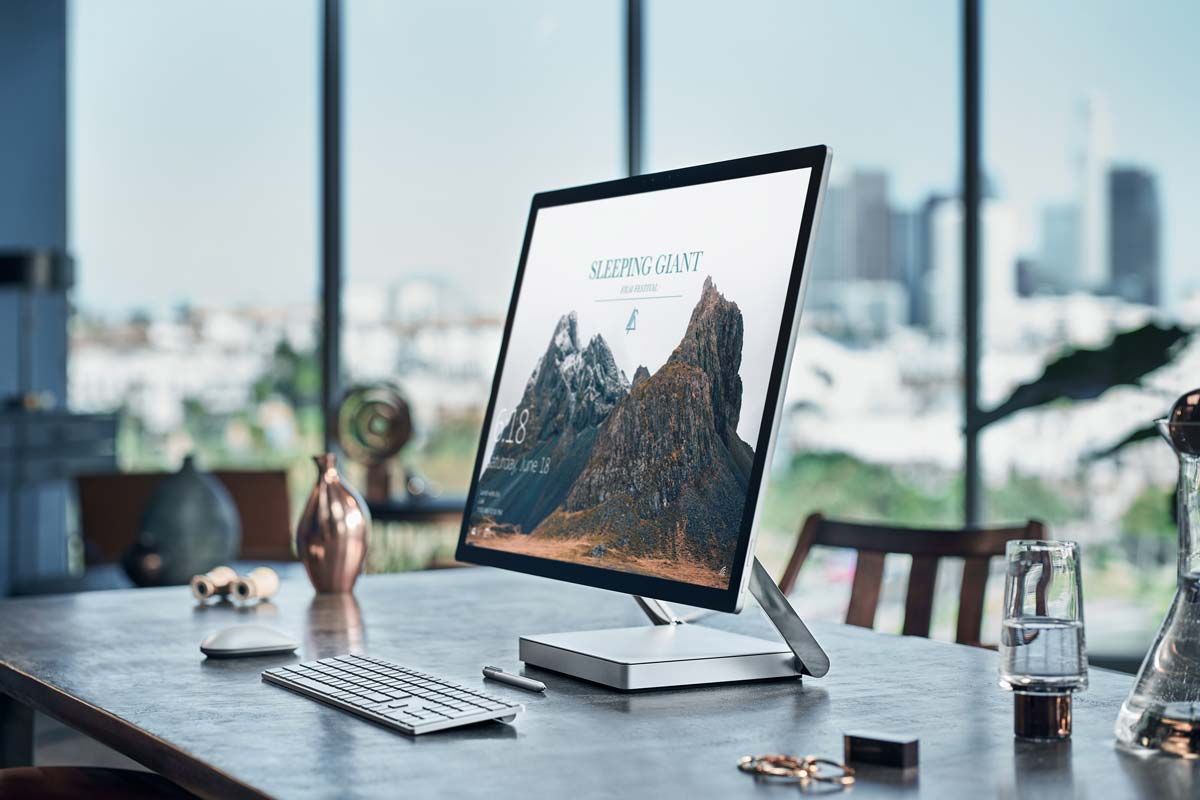 Surface Studio in an executive's office